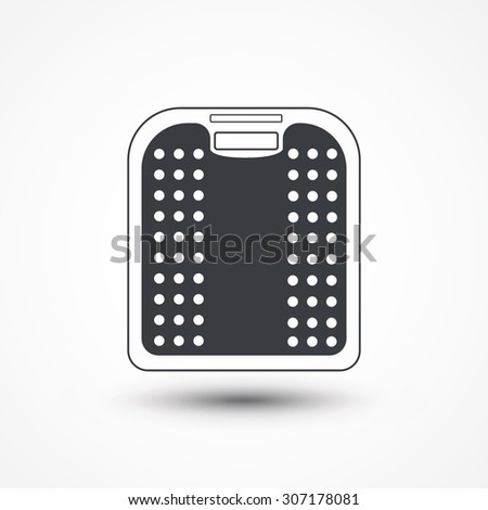 Weight Scale, Scale, Bathroom Scale - stock vector