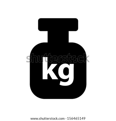 weight symbol vector illustration - stock vector