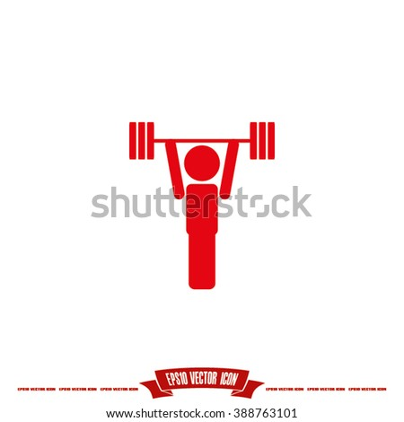 weightlifter icon vector, weightlifter icon eps10, weightlifter icon picture, weightlifter icon flat design, weightlifter icon, weightlifter web icon, weightlifter icon drawing, weightlifter icon jpg - stock vector