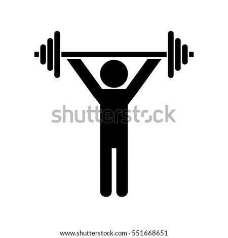 Weightlifting, dumbbell training icon
