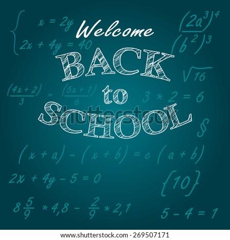 Welcome back to School - stock vector