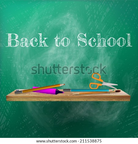 Welcome back to school template design. plus EPS10 vector file - stock vector