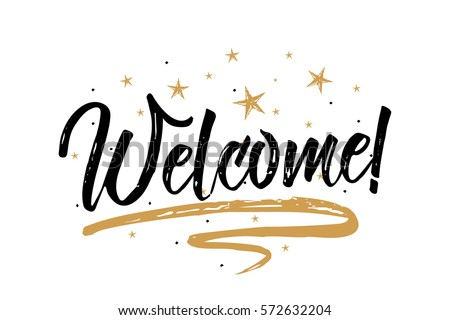 Welcome Card Bannerbeautiful Greeting Scratched ...