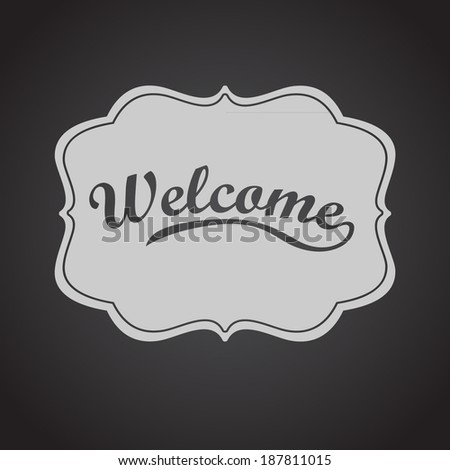 welcome card. Vector background  - stock vector