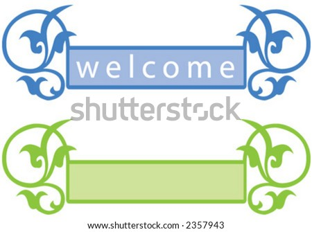 welcome, color - stock vector