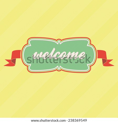 welcome label - stock vector