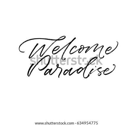 Welcome Home Card Poster Hand Drawn Stock Vector 347639411