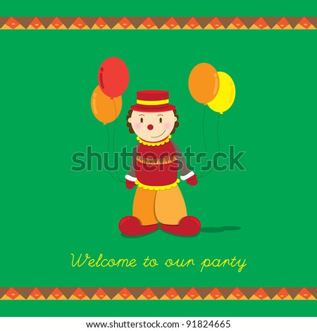 welcome party invitation card - stock vector
