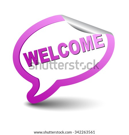 welcome, purple vector welcome, purple bubble welcome sticker bubble welcome, element welcome, sign welcome, design welcome, picture welcome, illustration welcome, welcome eps10 - stock vector