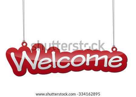 welcome, red vector welcome, red tag welcome background welcome, illustration welcome, element welcome, sign welcome, design welcome, picture welcome, welcome eps10 - stock vector
