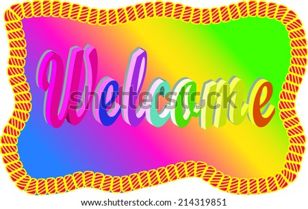 welcome sign - stock vector