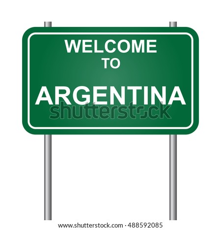 Welcome to Argentina, green signal vector