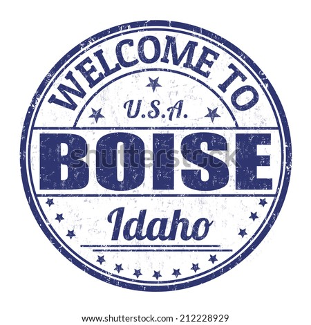 Welcome to Boise grunge rubber stamp on white background, vector illustration - stock vector