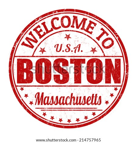 Welcome to Boston grunge rubber stamp on white background, vector illustration - stock vector