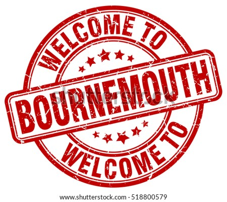 welcome to Bournemouth. stamp.