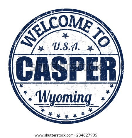 Welcome to Casper grunge rubber stamp on white background, vector illustration