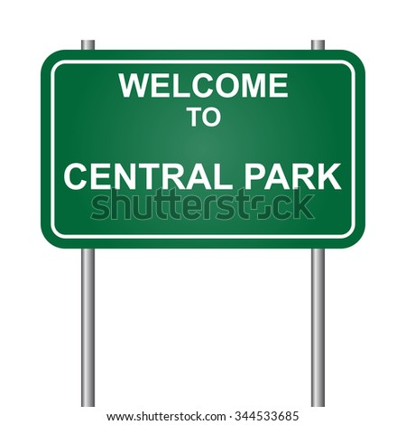 Welcome to Central Park vector