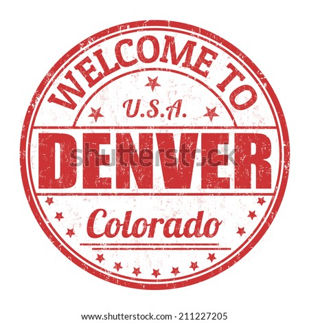 Welcome to Denver grunge rubber stamp on white background, vector illustration - stock vector
