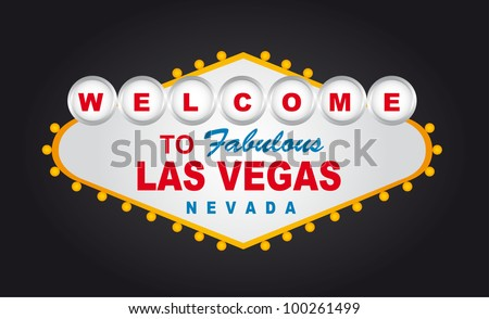 welcome to fabulous las vegas nevada sign isolated. vector