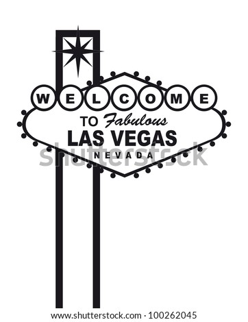welcome to fabulous las vegas nevada sign, isolated. vector - stock vector