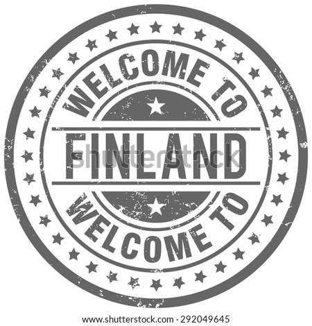 welcome to finland - stock vector