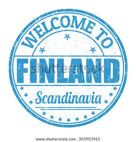 Welcome to Finland grunge rubber stamp on white background, vector illustration - stock vector