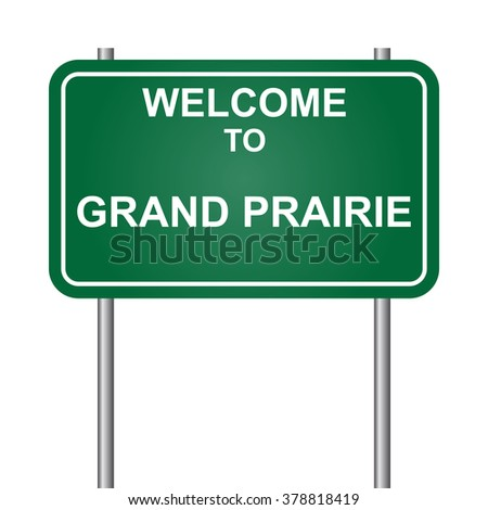 Welcome to Grand Prairie, green signal vector