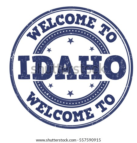 Welcome to Idaho grunge rubber stamp on white background, vector illustration