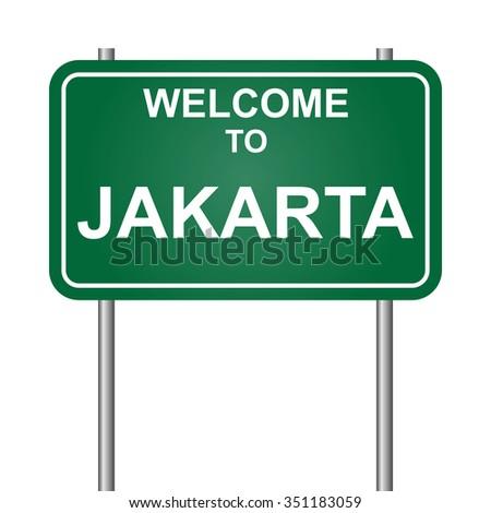 Welcome to Jakarta vector - stock vector
