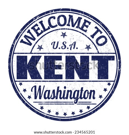 Welcome to Kent grunge rubber stamp on white background, vector illustration