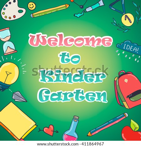 Welcome To Kindergarten Colorful Design