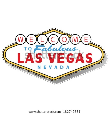 Welcome to Las Vegas sign - stock vector
