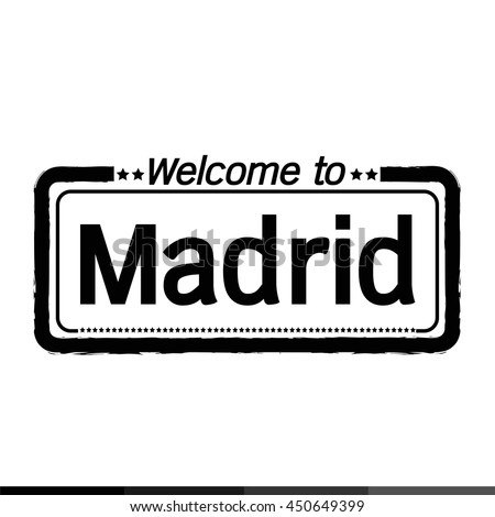Welcome to Madrid City illustration design
