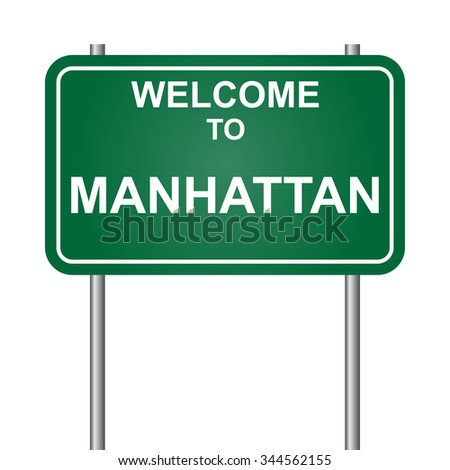 Welcome to Manhattan vector
