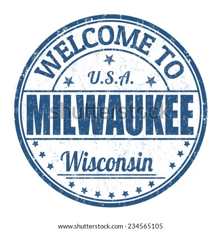 Welcome to Milwaukee grunge rubber stamp on white background, vector illustration - stock vector