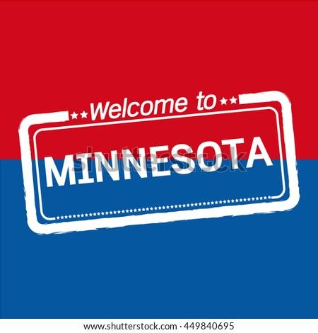 Welcome to MINNESOTA of US State illustration design