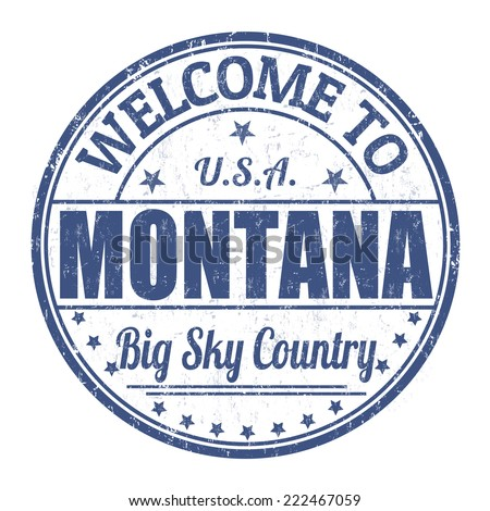 Welcome to Montana grunge rubber stamp on white background, vector illustration - stock vector