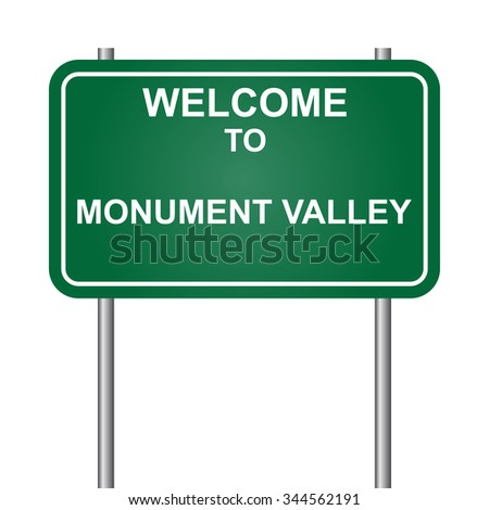 Welcome to Monument Valley vector