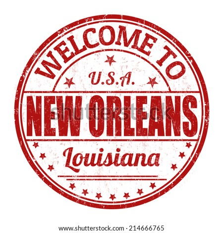 Welcome to New Orleans grunge rubber stamp on white background, vector illustration - stock vector