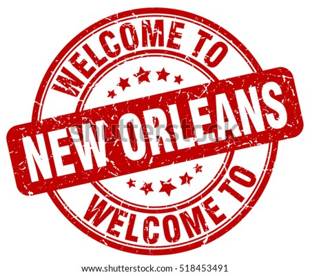 welcome to New Orleans. stamp.