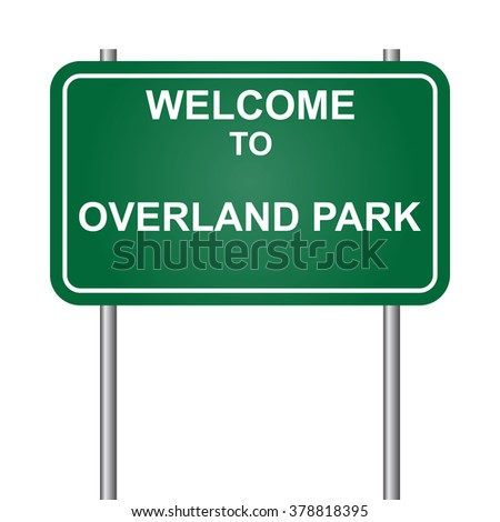 Welcome to Overland Park, green signal vector