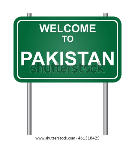 Welcome to Pakistan, green signal vector