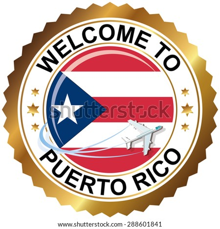 Welcome to Puerto Rico - stock vector