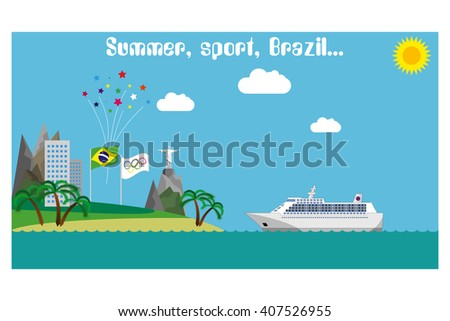 Welcome to Rio. Olympic games 2016. vector illustration.
