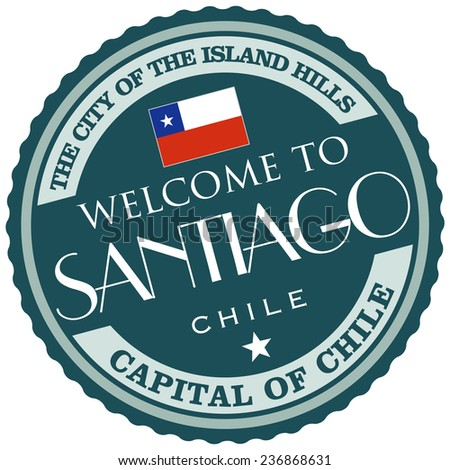 welcome to santiago - stock vector