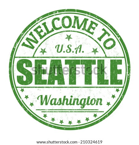 Welcome to Seattle grunge rubber stamp on white background, vector illustration - stock vector