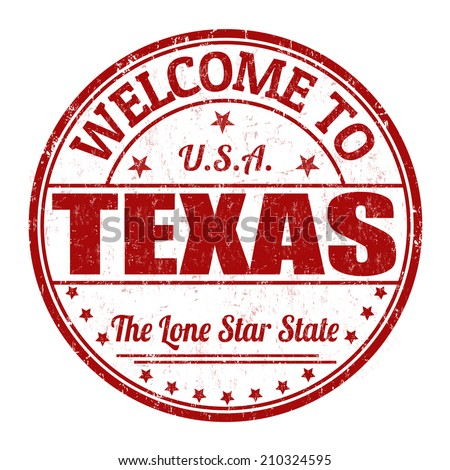 Welcome to Texas grunge rubber stamp on white background, vector illustration - stock vector