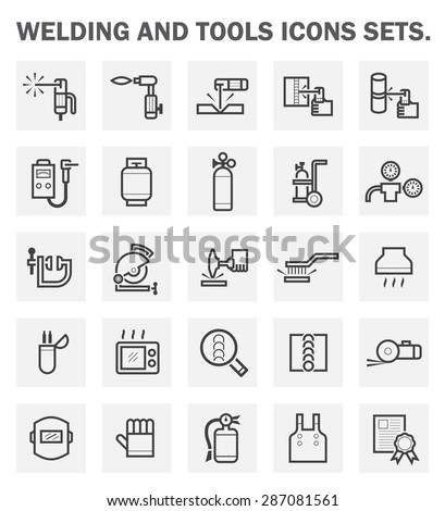 Welding and tools icons sets. - stock vector