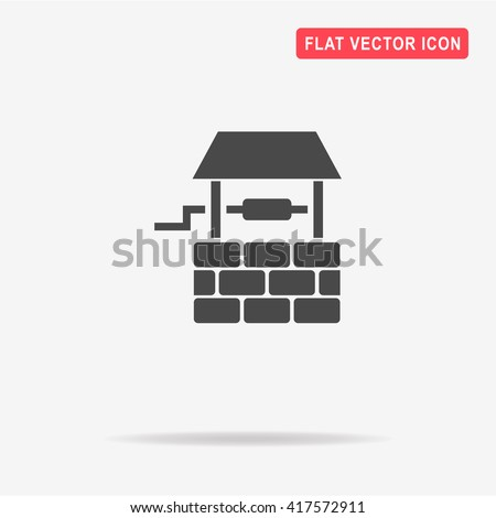 Well icon. Vector concept illustration for design. - stock vector