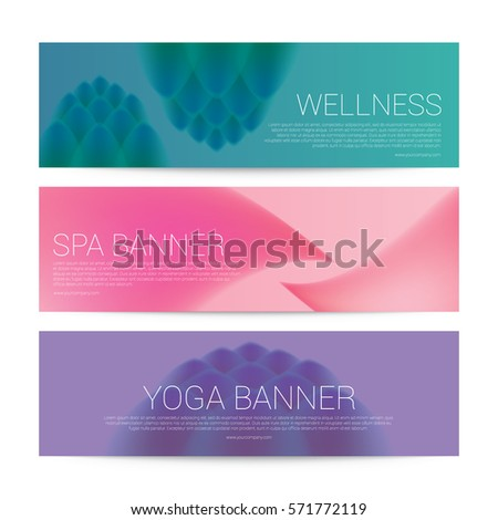 Wellness Spa Yoga banner template flyer menu cover, vector illustration